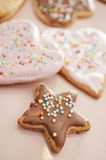 Christmas cookies in different shapes Royalty Free Stock Photo