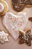 Christmas cookies in different shapes Stock Images