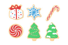 Christmas cookies. Different sweet color Christmas cookies Royalty Free Stock Image