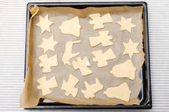 Christmas cookies dough Royalty Free Stock Photo