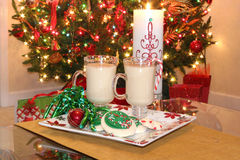 Christmas cookies and eggnog Royalty Free Stock Images