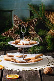Christmas cookies with festive decor Royalty Free Stock Image