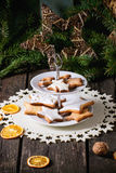 Christmas cookies with festive decor Royalty Free Stock Photography