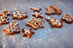 Christmas cookies with festive decoration Royalty Free Stock Photos
