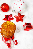 Christmas cookies and festive decoration Stock Photo