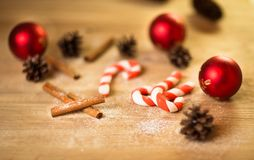 Christmas cookies with festive decoration Royalty Free Stock Images
