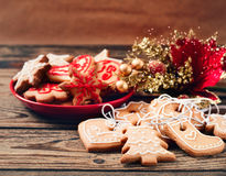 Christmas cookies with festive decoration Stock Image
