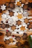 Christmas cookies with festive decoration royalty free stock image