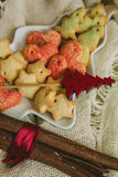 Christmas cookies with festive decoration Royalty Free Stock Photo