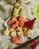 Christmas cookies with festive decoration Stock Photo