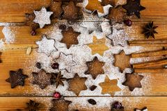 Christmas cookies with festive decoration stock photography