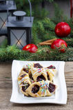 Christmas cookies filled with marmalade Royalty Free Stock Photos