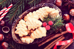 Christmas cookies filtered image stock photos