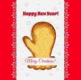 Christmas cookies in the form of a mitten vector Stock Photo