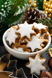 Christmas cookies in the form of stars, vertical, close-up Royalty Free Stock Photos