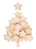 Christmas cookies forming a tree Royalty Free Stock Photo