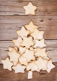 Christmas cookies forming a tree Royalty Free Stock Images