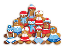 Christmas cookies - funny decorated cookies greeting composition Stock Photography