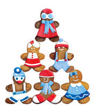 Christmas cookies - funny decorated cookies greeting composition Stock Image