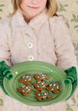 Christmas Cookies, Gingerbread Men Royalty Free Stock Photo