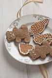 Christmas cookies an gingerbread on plate Stock Photography