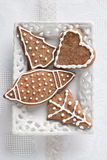 Christmas cookies an gingerbread on plate Royalty Free Stock Photo