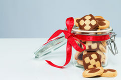 Christmas cookies in a glass jar Stock Photography