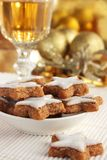 Christmas cookies and a glass of sherry Royalty Free Stock Photo