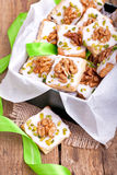 Christmas cookies in a green box Stock Photography