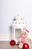 Christmas cookies. Christmas greeting card with teddy bear Stock Photo