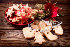Christmas cookies handmade Royalty Free Stock Photography