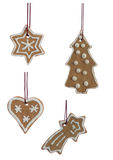 Christmas Cookies Hanging Isolated Royalty Free Stock Photo