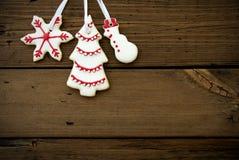 Christmas Cookies Hanging on Wood II Stock Photography