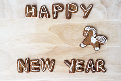 Christmas cookies. Happy New Year. Christmas cookies on a wooden table. Happy New Year Stock Image
