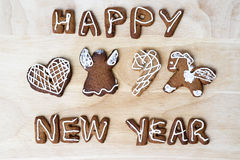 Christmas cookies. Happy New Year. Christmas cookies on a wooden table. Happy New Year Stock Photo