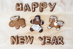 Christmas cookies. Happy New Year. Christmas cookies on a wooden table. Happy New Year Royalty Free Stock Photos