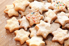 Christmas cookies. Homemade christmas cookies. Close-up Stock Photos