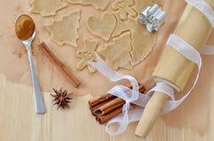Christmas cookies. Homemade christmas ginger cookies with cinnamon Stock Photos