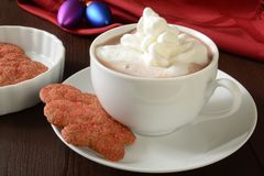 Christmas cookies and hot chocolate Royalty Free Stock Photography