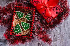 Christmas cookies with icing Stock Images