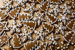 Christmas cookies with icing stock photography
