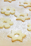 Christmas Cookies with icing sugar Stock Photo