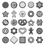 Christmas cookies icons Royalty Free Stock Photography