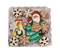 Christmas cookies. Isolate on white. Stock Images