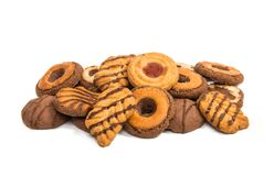 Christmas cookies isolated Royalty Free Stock Photo