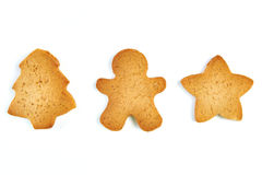 Christmas cookies isolated Royalty Free Stock Photography