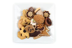 Christmas cookies isolated. Traditional czech christmas cookies isolated on the white background Royalty Free Stock Photography