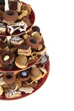 Christmas cookies isolated. Traditional czech christmas cookies isolated on the white background Royalty Free Stock Images