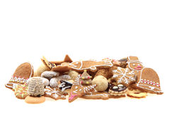 Christmas cookies isolated. Traditional czech christmas cookies isolated on the white background Stock Photo