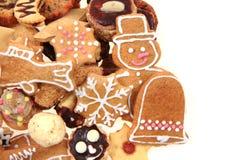 Christmas cookies isolated. Traditional czech christmas cookies isolated on the white background Stock Image